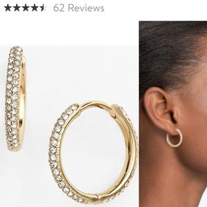 NADRI PAVE SMALL HOOPS SOLD OUT